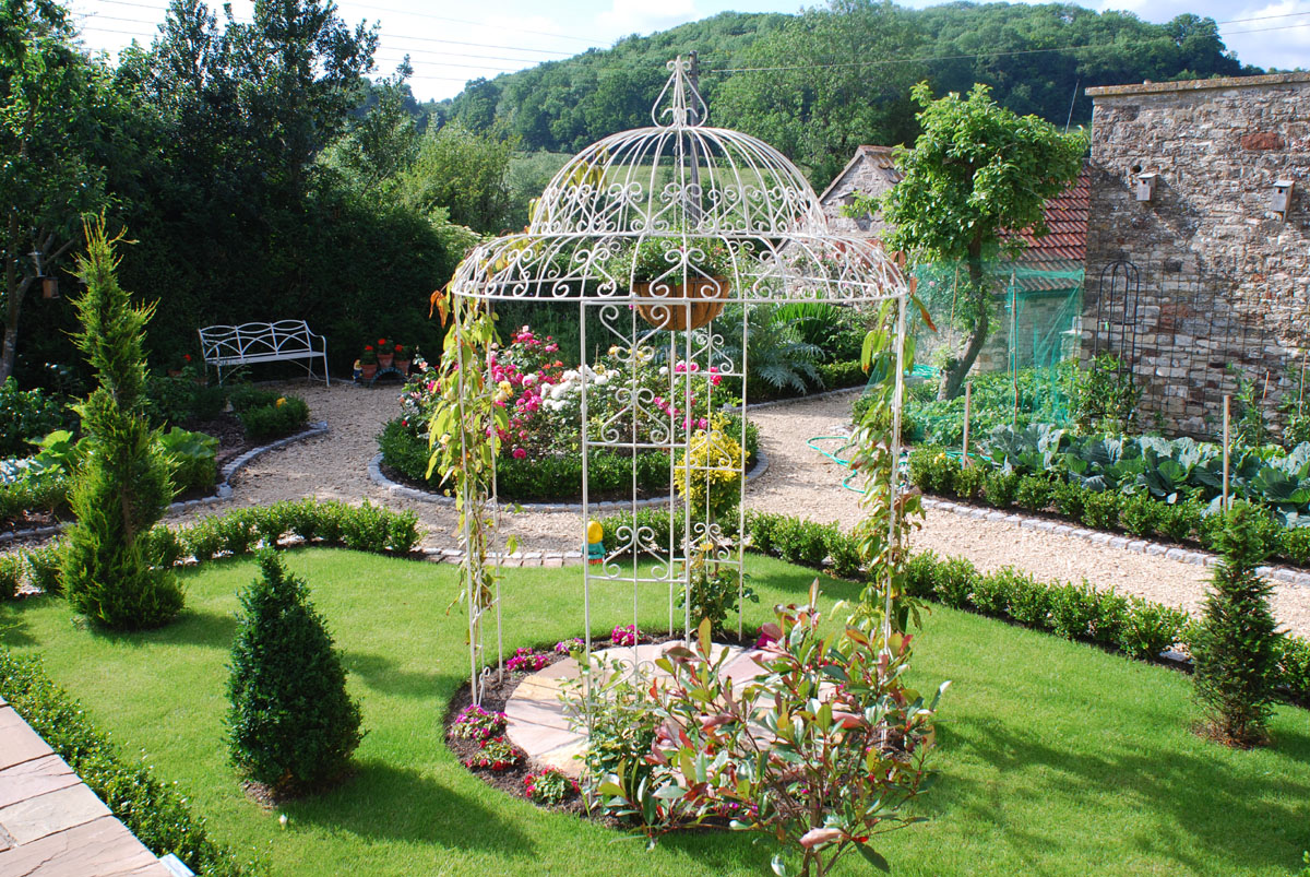 Regent Scroll Wrought Iron Gazebo