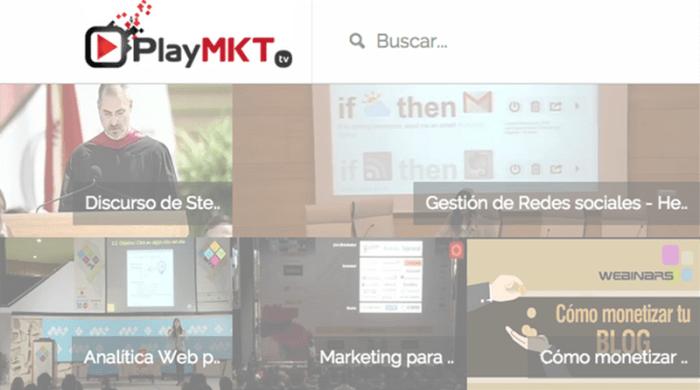 Una comunidad destinada a compartir vídeos de marketing.
