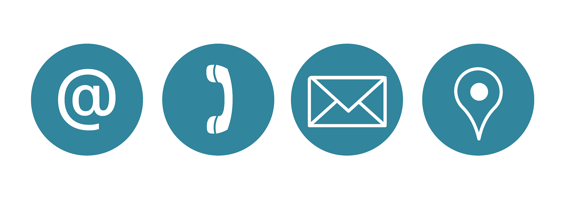 hight resolution of 4 symbols sign telephone handle envelope and a map point
