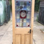 Victorian Edwardian 3 Panel Original Stained Glass Door