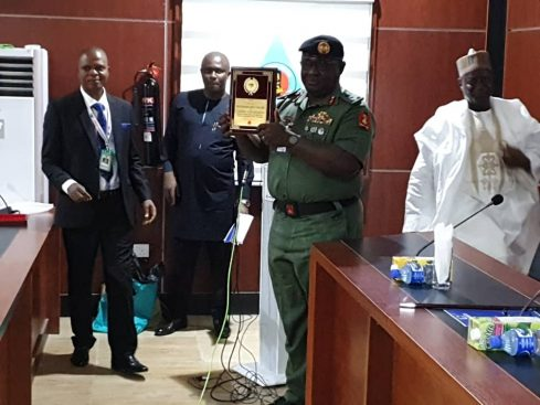 Buratai Army Staff gets an award for outstanding performance