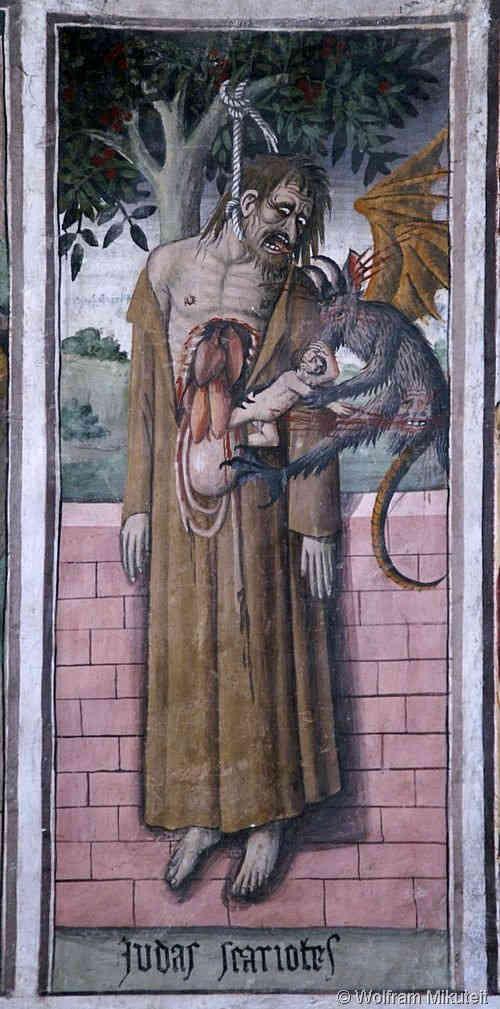 Gehängter Judas - Giovanni Canavesio
