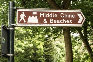 Sign pointing to Middle Chine, Westbourne