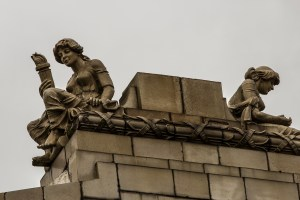 The Lamp of Learning. Statues, The Grand, Westbourne.