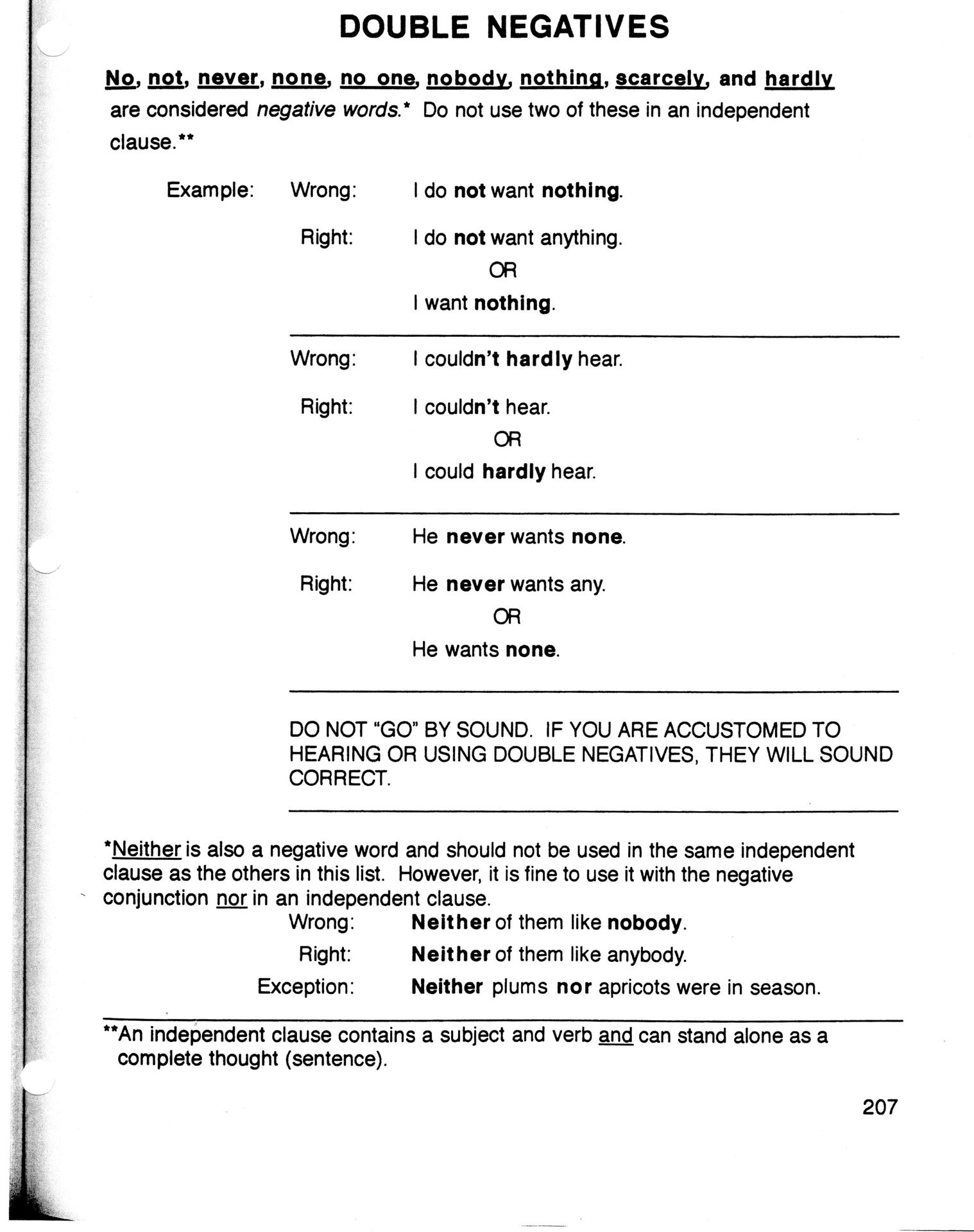 Worksheet Double Negative Worksheet Grass Fedjp