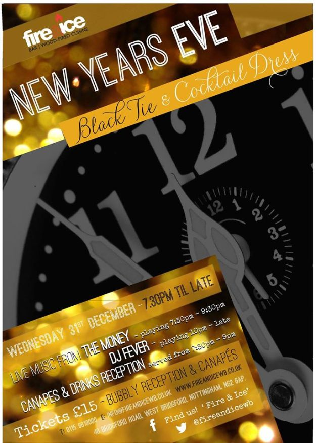 New Year's Eve 2014 at Fire & Ice, West Bridgford
