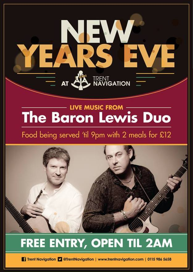New Year's Eve 2014 at the Trent Navigation, West Bridgford