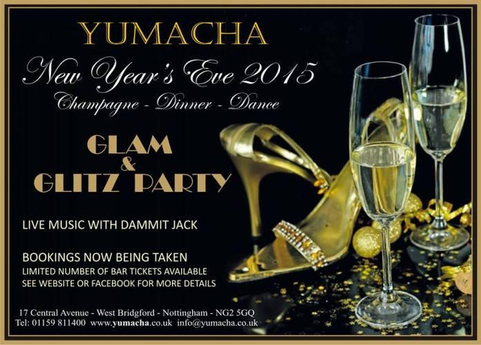 New Year's Eve 2014 at Yumacha, West Bridgford