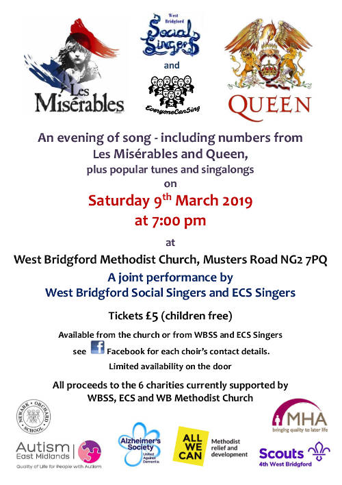West Bridgford Methodist Church - charity concert