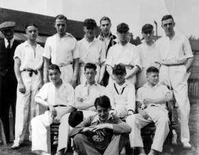 Kenrick & Jefferson Cricket team, 1936, taken at Salisbury Road playing fields. K&J Directors were keen on providing a sports ground to help their employees be happy and fit. In 1935 they presented a cheque for £500 to make a Sports Pavilion at the recreation ground. It had ladies and gents changing rooms, showers, a large kitchen, a bowls room and a maple floor for ballroom dancing. There was a choice of football, hockey, cricket, putting, netball, a crown bowling green (said to be the best in the Midlands), hard court tennis, table tennis, billiards, snooker and a library. Courtesy of Ivan Walker.