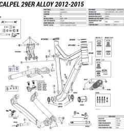cannondale 29er alloy 2012 2015 spares list [ 1100 x 1065 Pixel ]