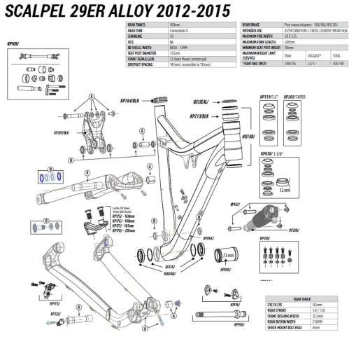 small resolution of cannondale 29er alloy 2012 2015 spares list