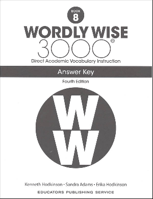 Wordly Wise book 8 Answer Key