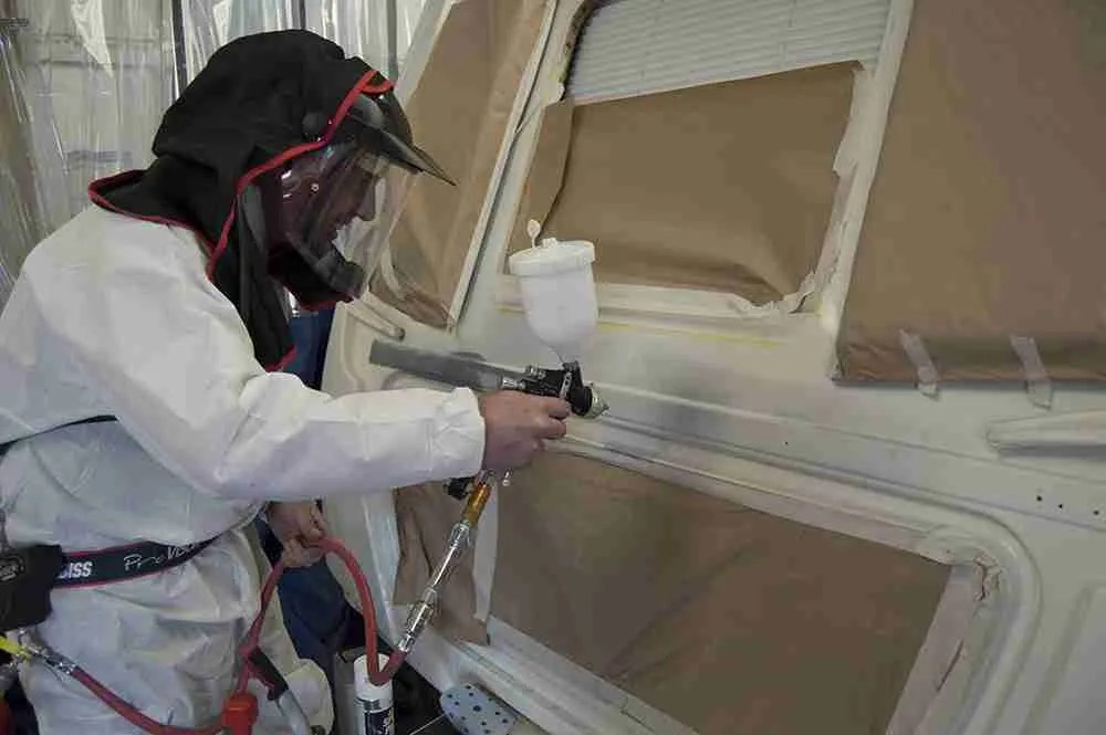 Caravan respraying at westby hall