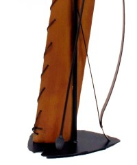 Southwest Bow & Quiver Metal Floor Lamp & Shade 61.5 inch