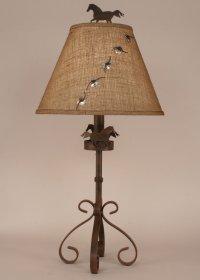 """Iron SLeg Horse Icon Lamp & Shade 31"""""""