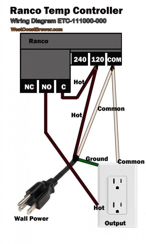 Ranco Digital Temperature Controller Wiring Diagram