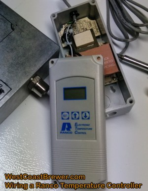 How to wire a Ranco digital temperature controller  120v