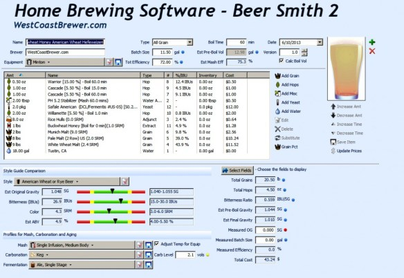 Beer Smith 2 Homebrew Software