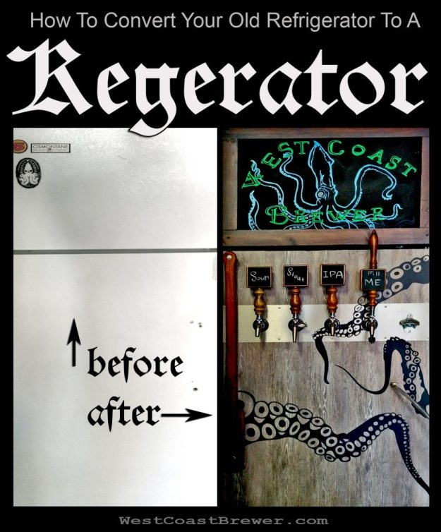 Guide on how to convert an old refrigerator in to a kegerator #kegerator #guide #howto #DIY