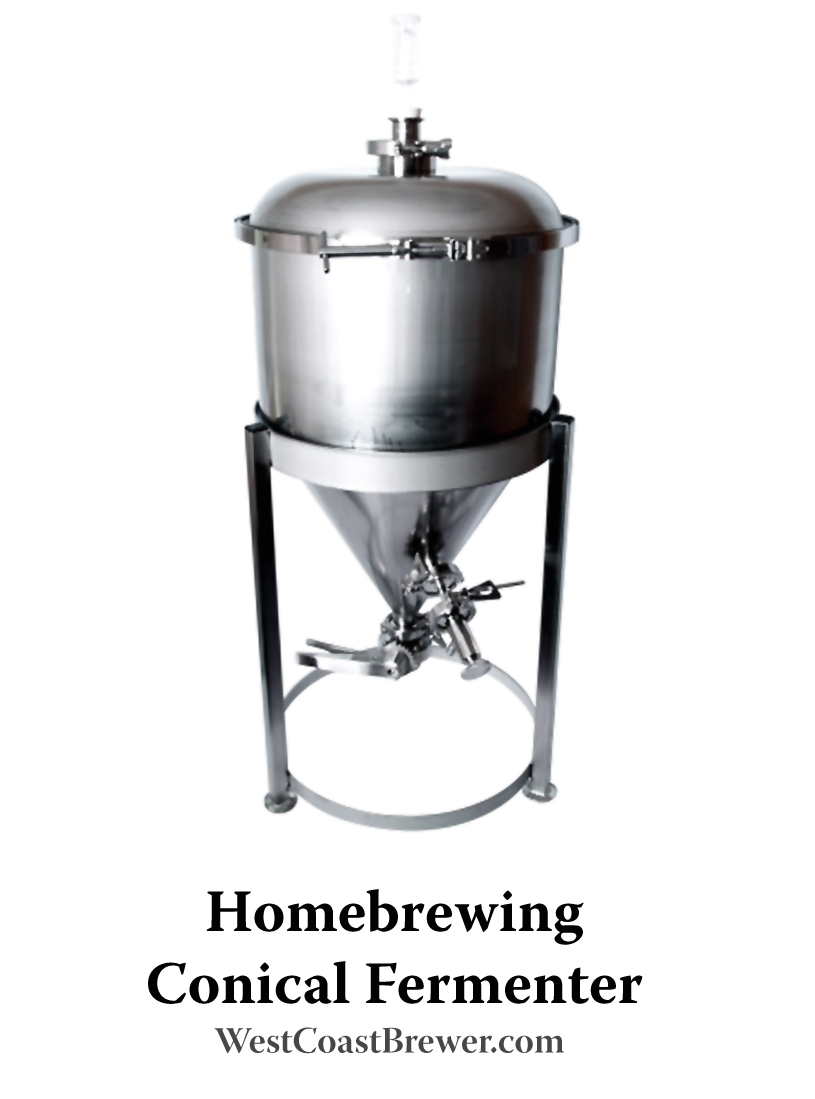 Stainless steel homebrewing fermenter