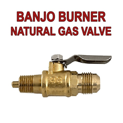 Converting a banjo burner over to natural gas