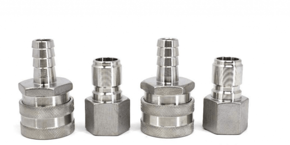 Stainless Steel Quick Connects for Home Brewing
