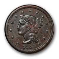 Braided Hair Cent (1839-1857) - Coins for sale on ...