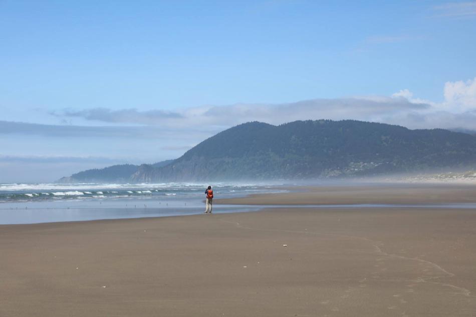 Person looking at ocean and coastline