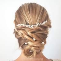 Thin pearl hair vine with 5 simple pearl hair pins