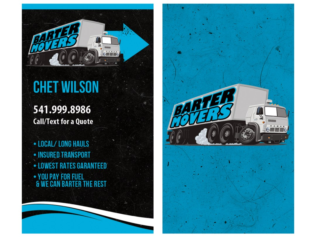 Barter Movers – Business Card