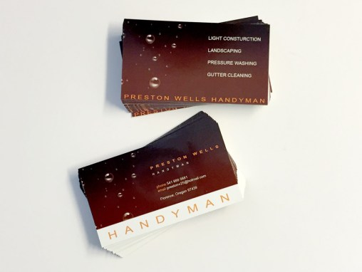 Preston Handyman – Business Cards