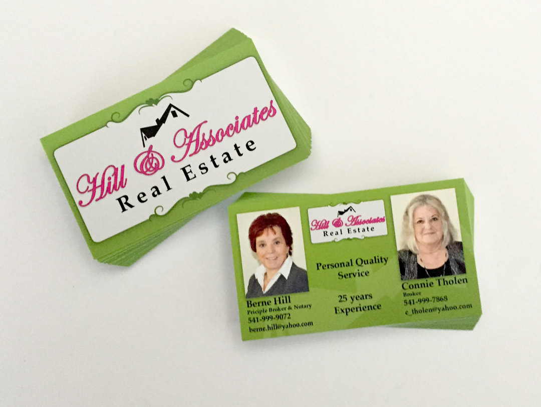 Hill & Associates Real Estate – Business Cards