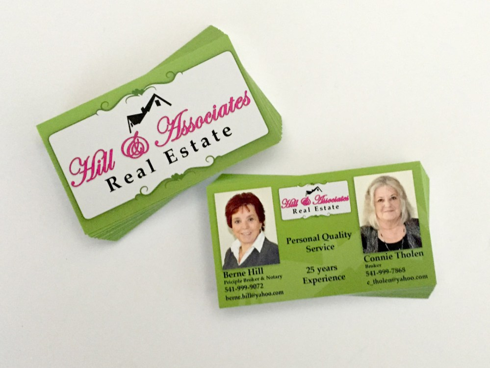 Hill Associates Real Estate Business Cards Westcoast Media Group