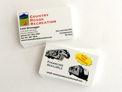 Contry Roads Recreation, Lorei – Business Cards
