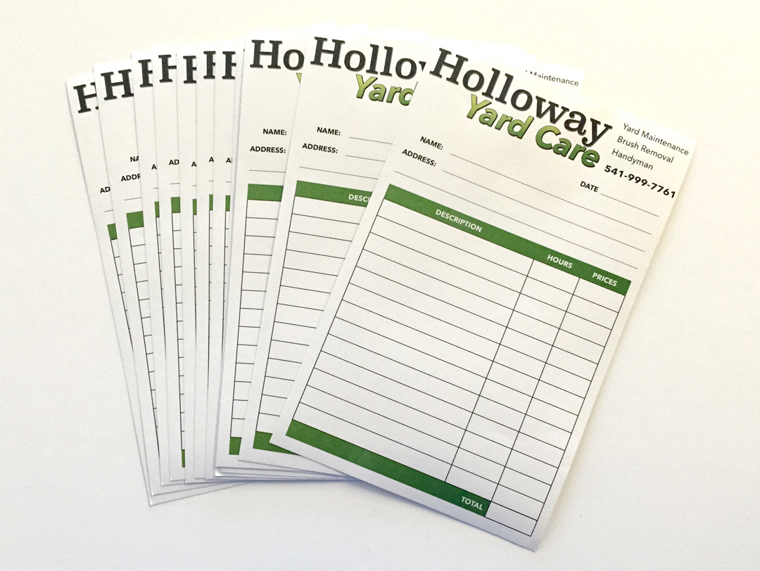 Halloway Yard Care – NCR Forms