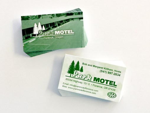Park Motel – Business Card