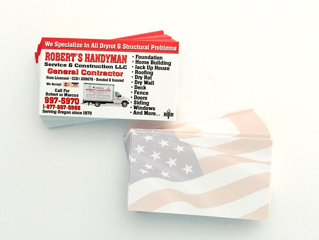 Roberts Handyman – Business Card