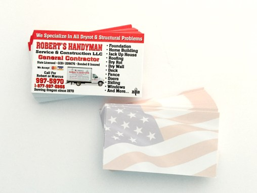 Roberts Handyman – Business Card