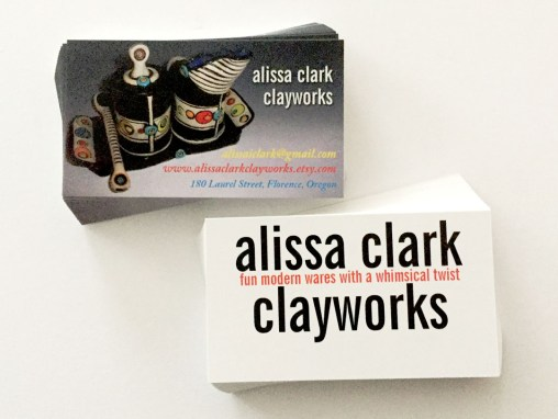 Alissa Clark Clayworks – Business Cards