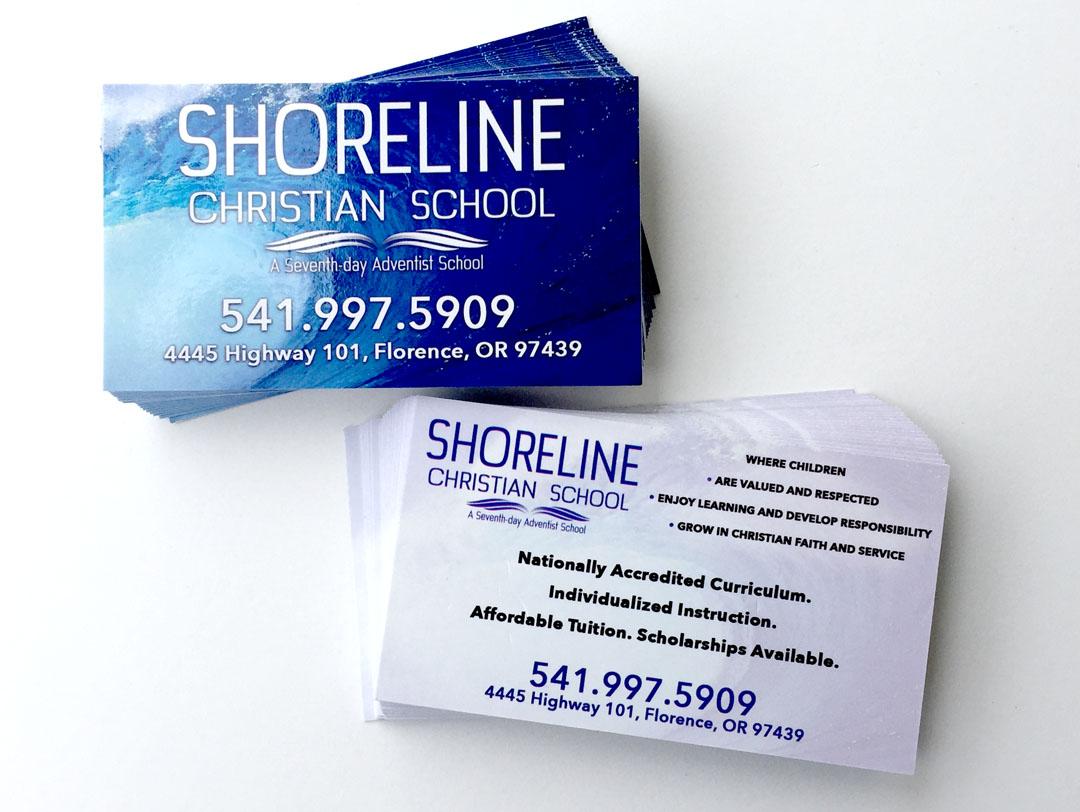 Shoreline Christian School – Business Cards