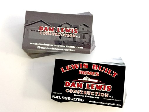 Dan Lewis Construction – Business Cards