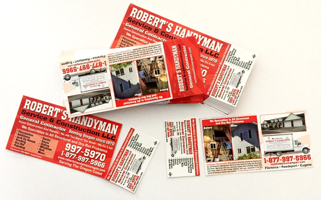 Robert's Handyman – Tear-off cards