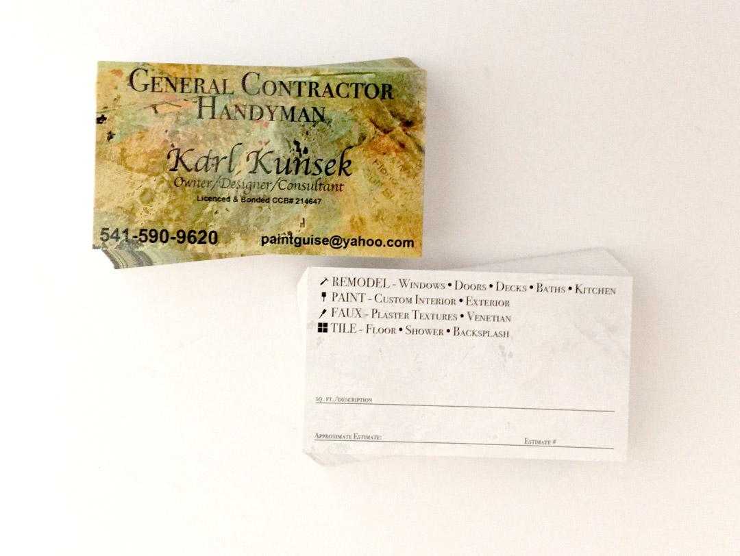 Karl Kunsek – Business Cards