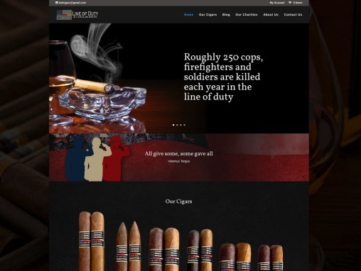 Line of Duty Cigars – E-commerce Website