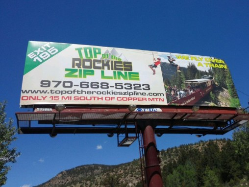 Top of the Rockies Zip Line – Billboard