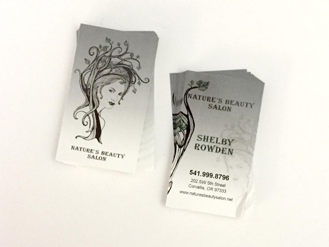 Natures Beauty Salon – Business Cards