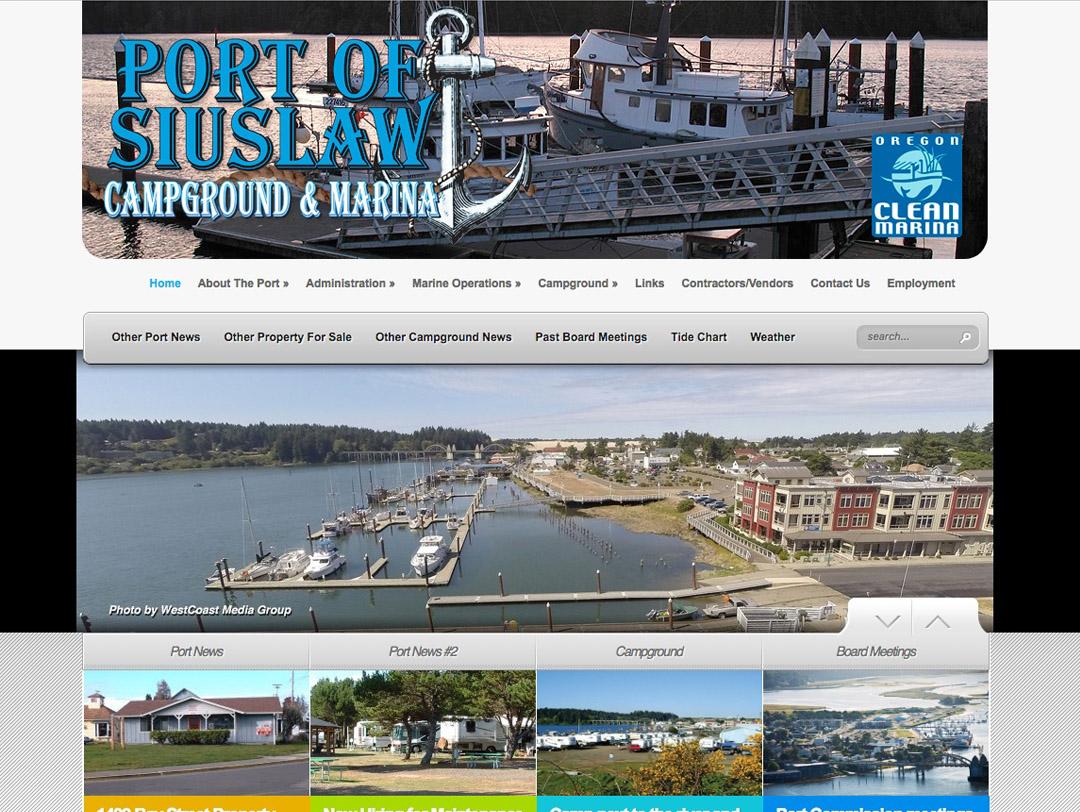 Port of Siuslaw  – Website