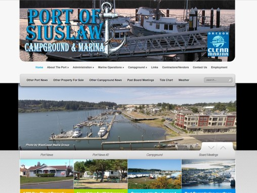 Port of Siuslaw  – Website