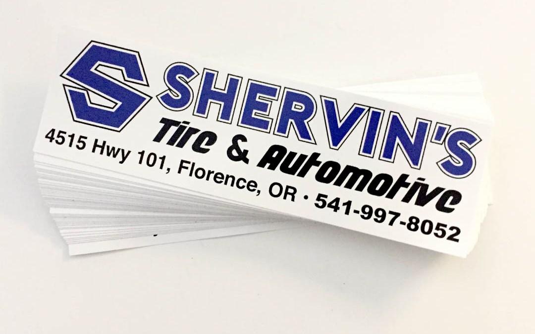 Shervin's Tire & Automotive – Bumper Stickers
